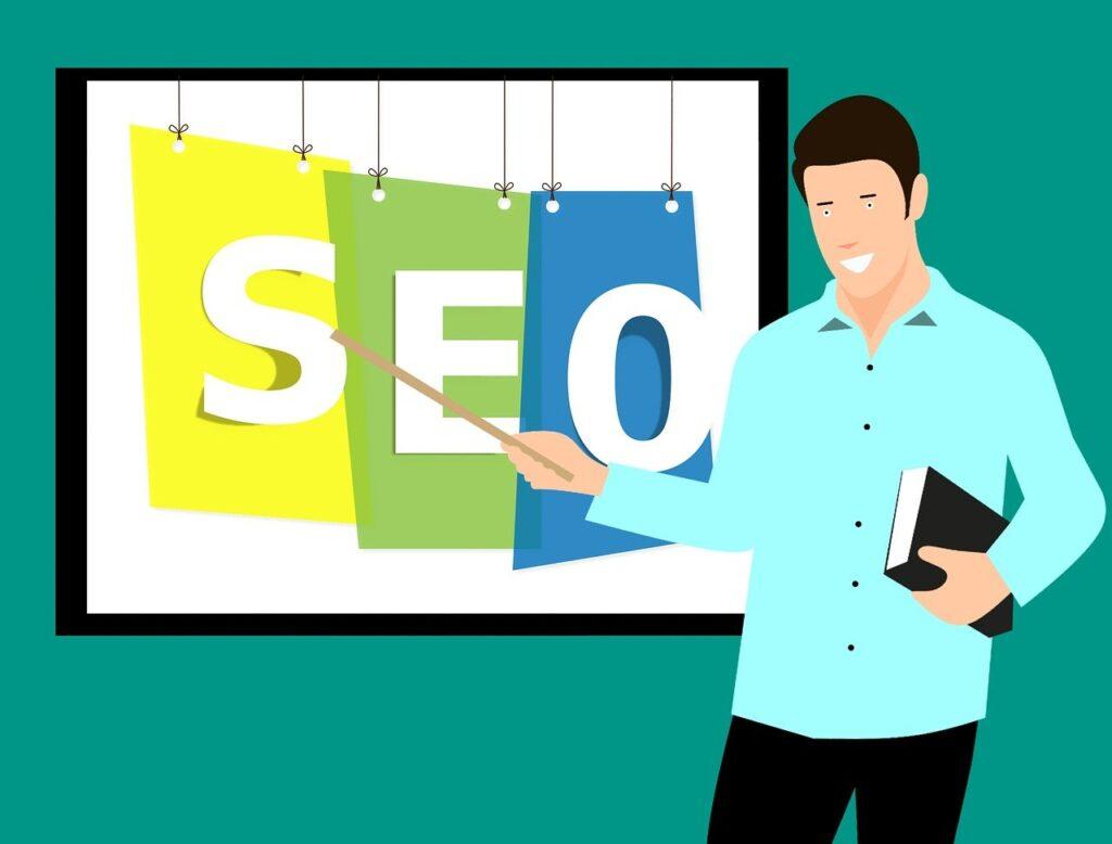 Online Marketing Consultant bei der Arbeit