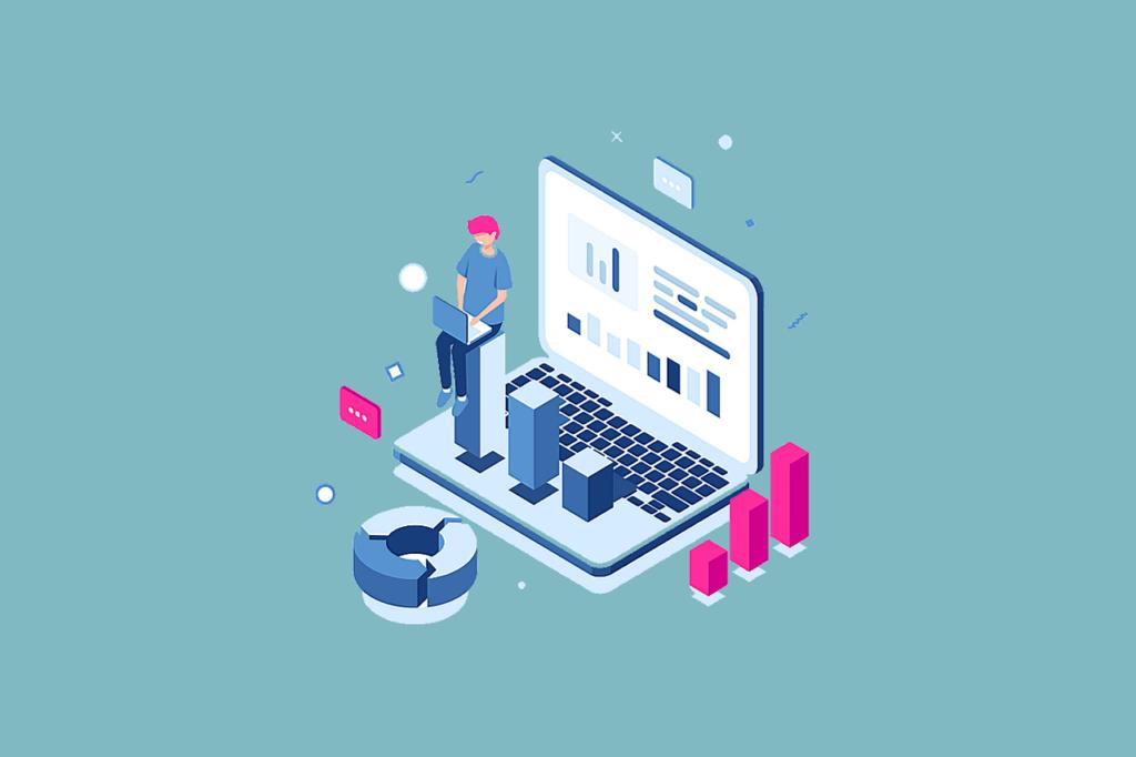 Online Marketing Manager bei der Arbeit